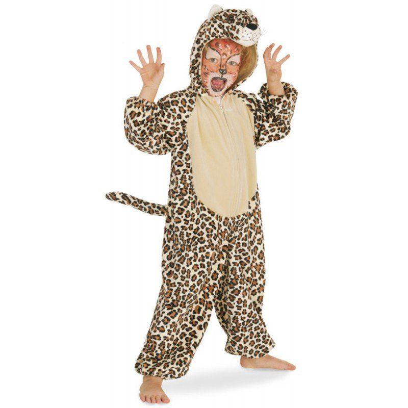 Leoparden Velours Kostüm für Kinder (Größe 104)