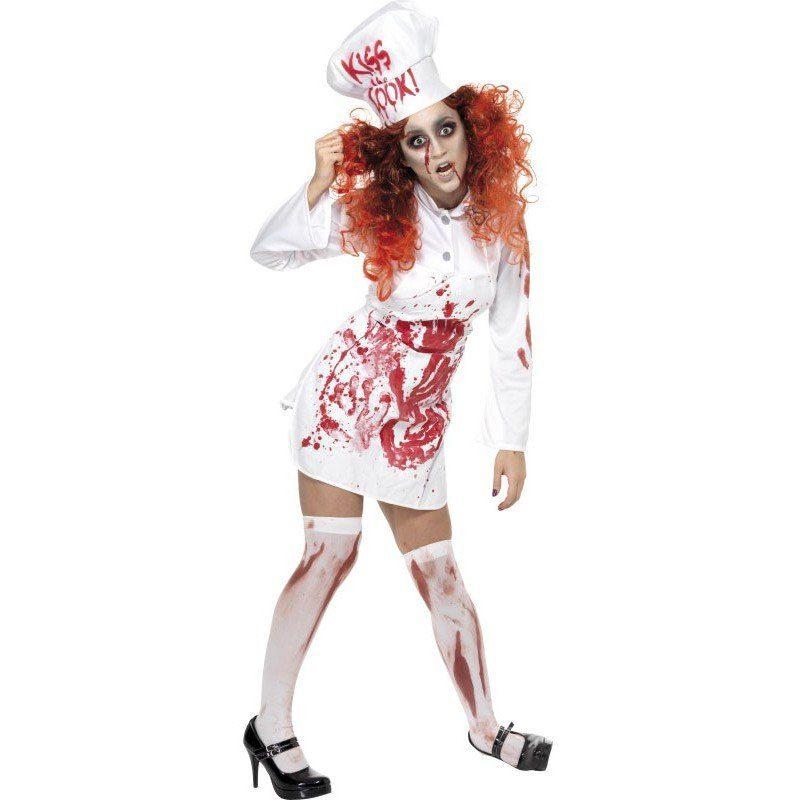 Blutige Zombie Köchin Kostüm - M