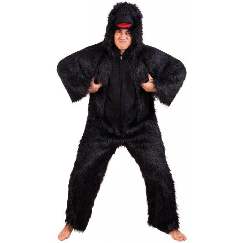 Gorilla Plüschkostüm Deluxe - Einheitsgröße (M-XL)