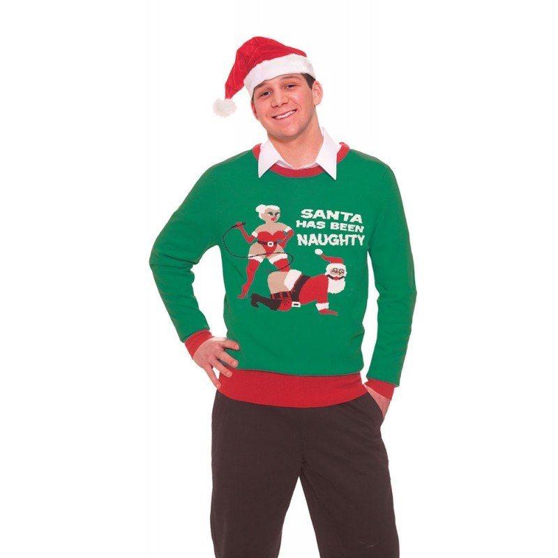 Weihnachtspulli ungezogener Santa (Größe M/L)