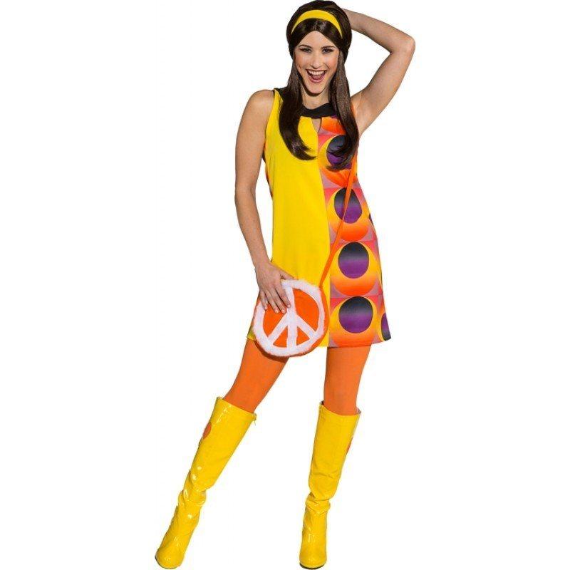 70er Jahre Funky Disco Kleid Damenkostum Kaufen Otto