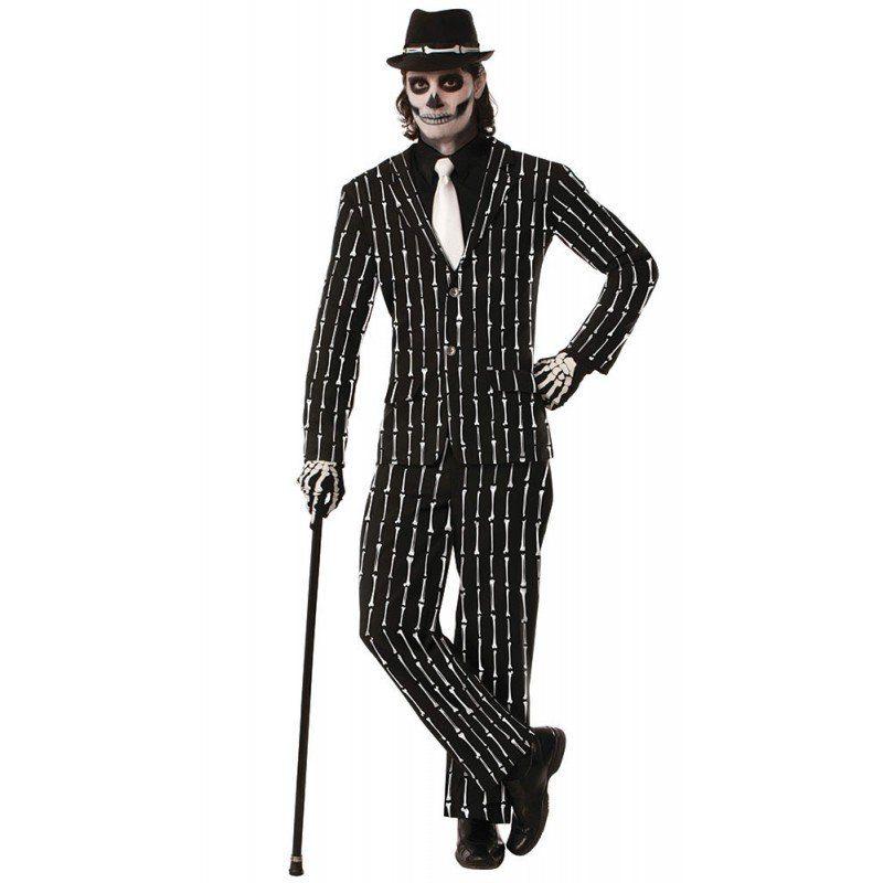 Knochen Streifen Anzug für Herren - M/L