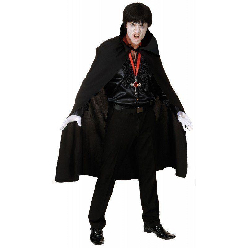 Vampir Umhang in Schwarz mit Stehkragen - M/L