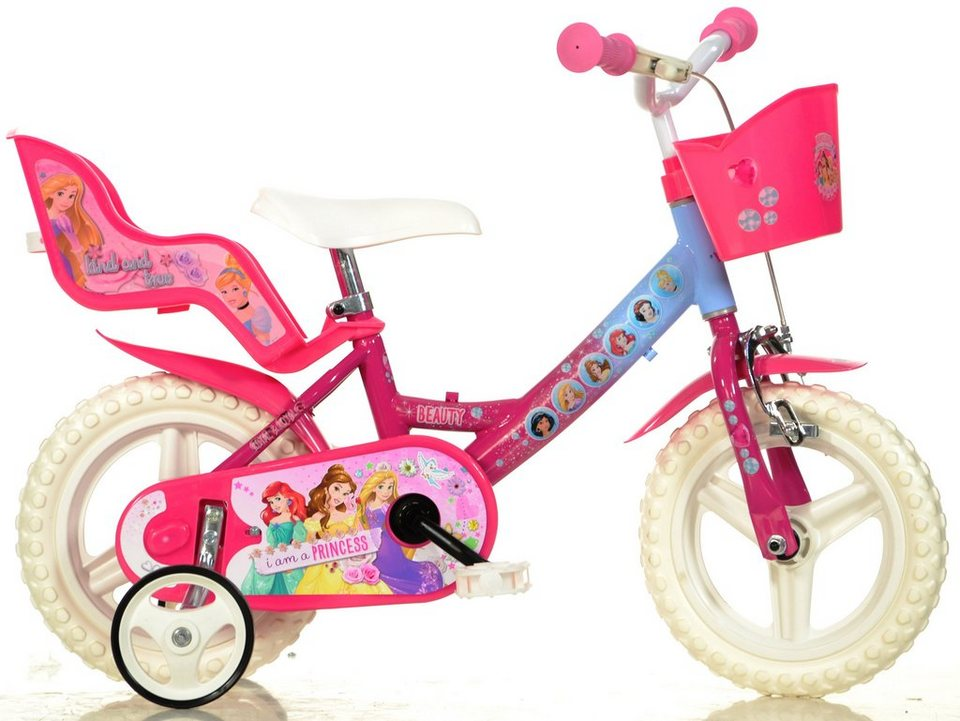 dino kinderfahrrad m dchen 12 zoll 1 gang princess. Black Bedroom Furniture Sets. Home Design Ideas