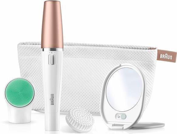 Braun Gesichtsepilierer Face Spa 851V, Epilation-und Reinigungsbürstensystem