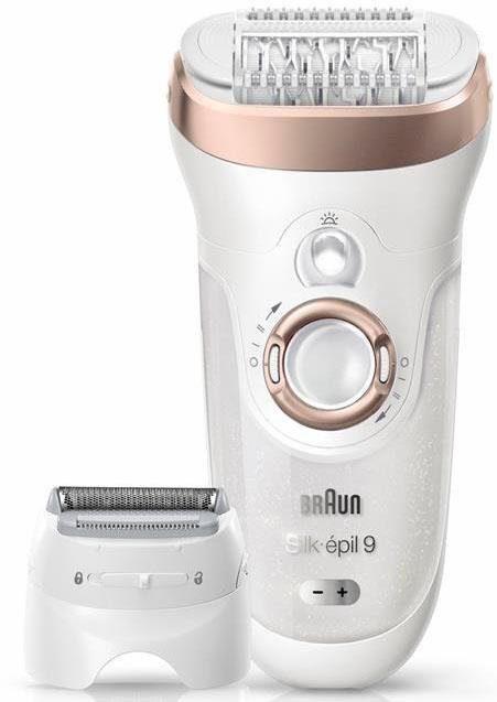Braun Epilierer Silk-épil 9 9-561, kabelloser Wet & Dry Epilierer/Epilation mit 6 Extras