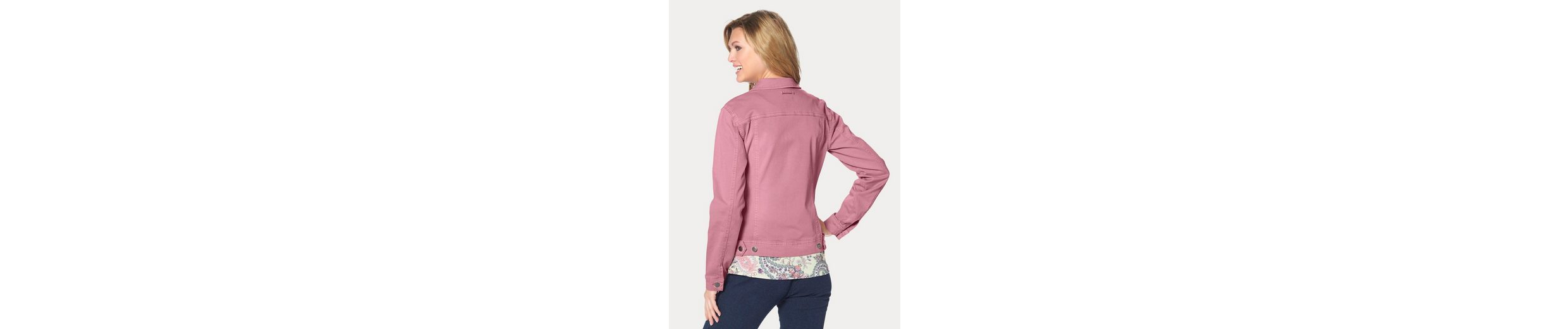 Cheer Jeansjacke, mit Used-Waschung