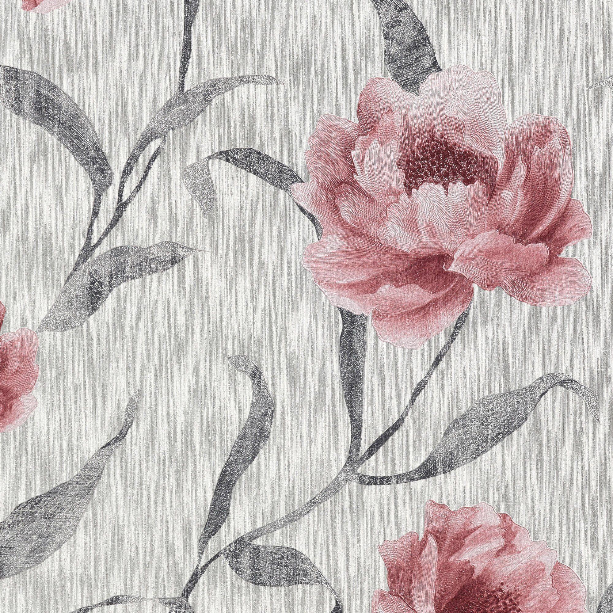 BODENMEISTER Vliestapete »Floral, Streifen«