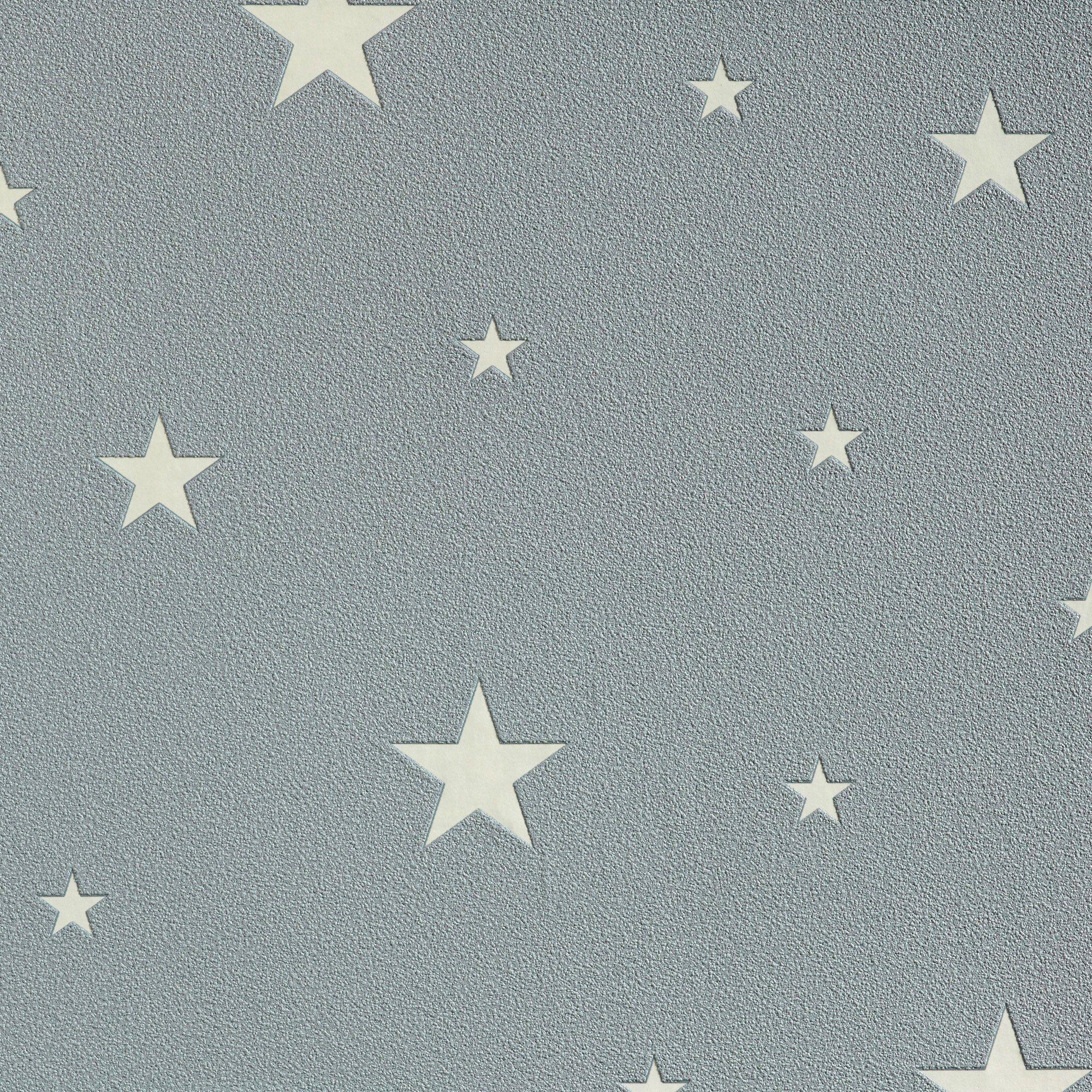BODENMEISTER Vliestapete »Sterne, blau«