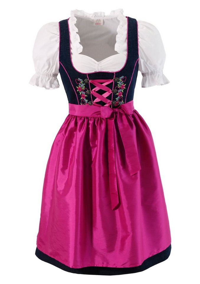 dirndl im jeans look 3tlg online kaufen otto. Black Bedroom Furniture Sets. Home Design Ideas