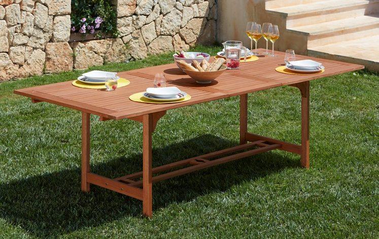 MERXX Gartentisch »Maracaibo«, Eukalyptusholz, ausziehbar, 230x100 cm, braun