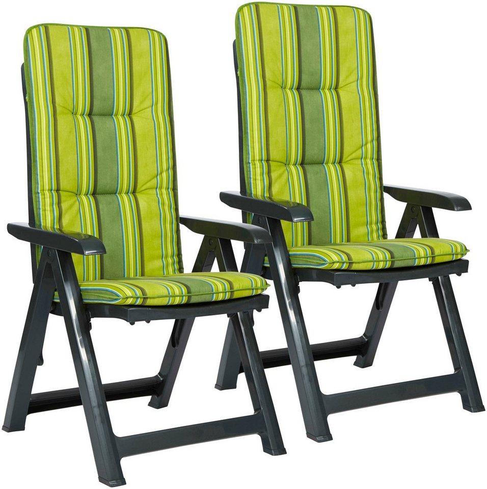 Gartenstühle kunststoff grün  BEST Gartenstuhl »Kansas«, (2er Set), Kunststoff, verstellbar ...