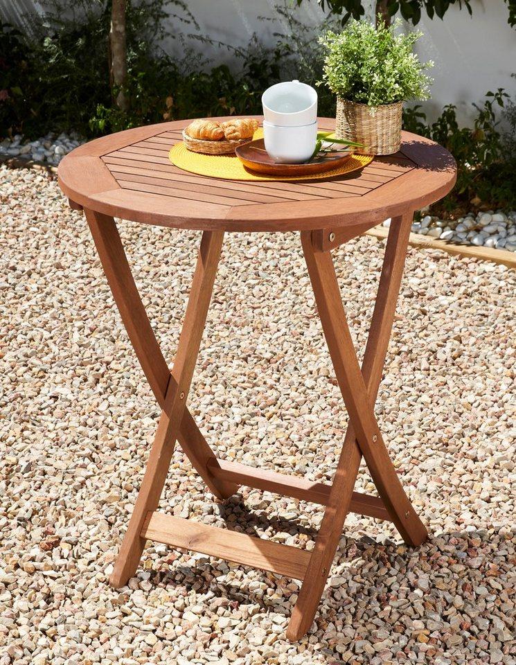 gartentisch borkum eukalyptusholz klappbar 65 cm braun online kaufen otto. Black Bedroom Furniture Sets. Home Design Ideas