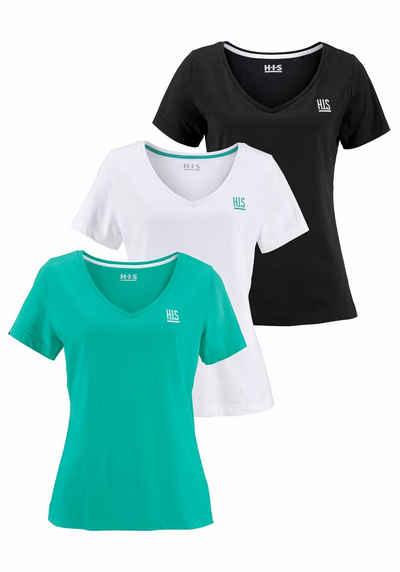 6a8ded3d449c H.I.S T-Shirt (Spar-Set, 3 tlg., 3er-Pack