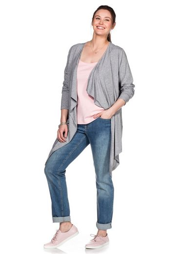 Sheego Shirtjacke in Zipfelform
