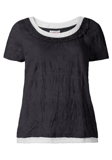 sheego Casual 2-in-1-Shirt, Crinkle-Optik