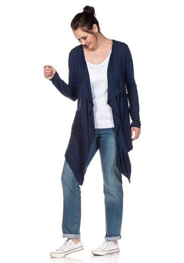Sheego Shirtjacke in Zipfelform