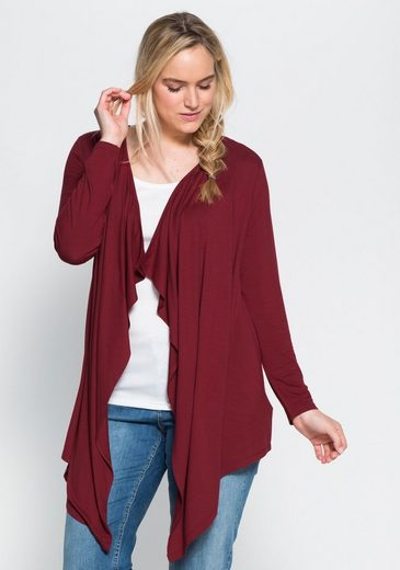 sheego Basic Shirtjacke, in Zipfelform