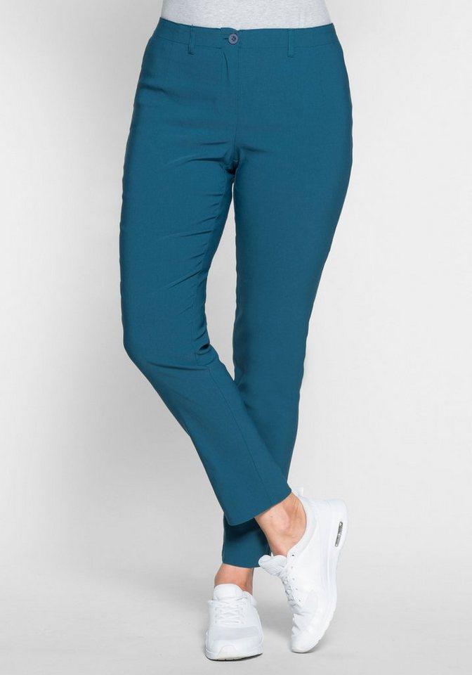 sheego Basic Anzughose knitterarm und pflegeleicht   Bekleidung > Hosen > Anzughosen   Blau   sheego Basic