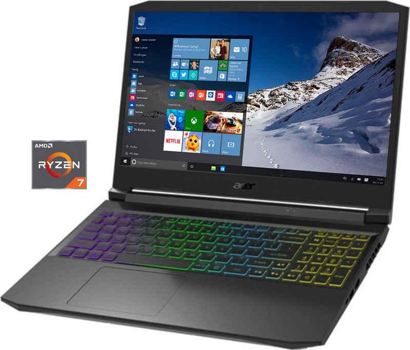 Acer AN515-45-R3MS Notebook (39,6 cm/15,6 Zoll, AMD Ryzen 7 5800H, GeForce RTX 3060, 1000 GB SSD, Kostenloses Upgrade auf Windows 11, sobald verfügbar)