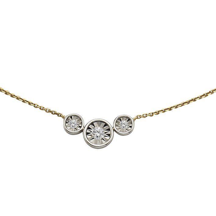 CELESTA Collier »925/- Silber 3xDiamant«