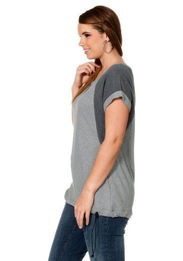 sheego Casual T-Shirt, mit Einsätzen