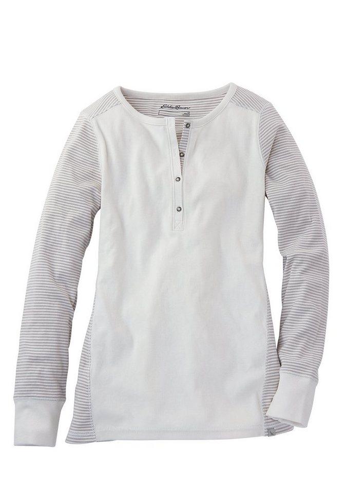 Eddie Bauer Henleyshirt in Weiß
