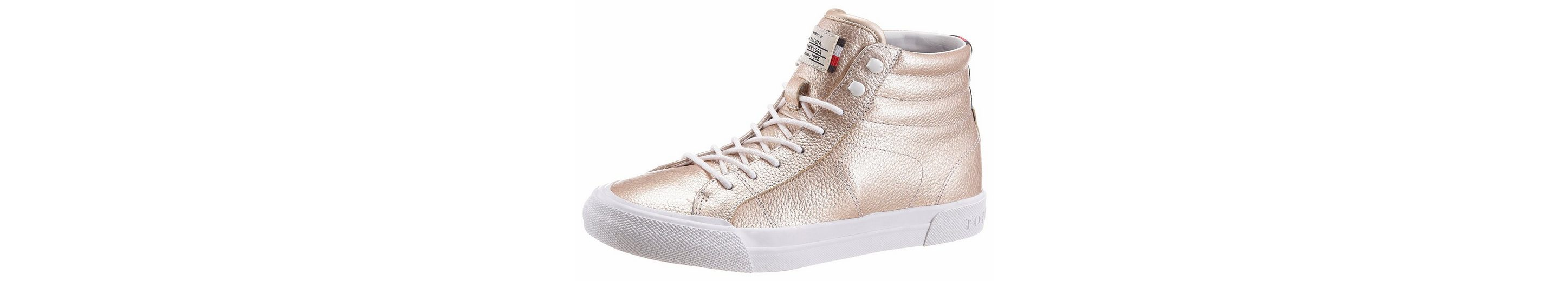 Tommy Hilfiger Sneaker, in Metallic-Optik