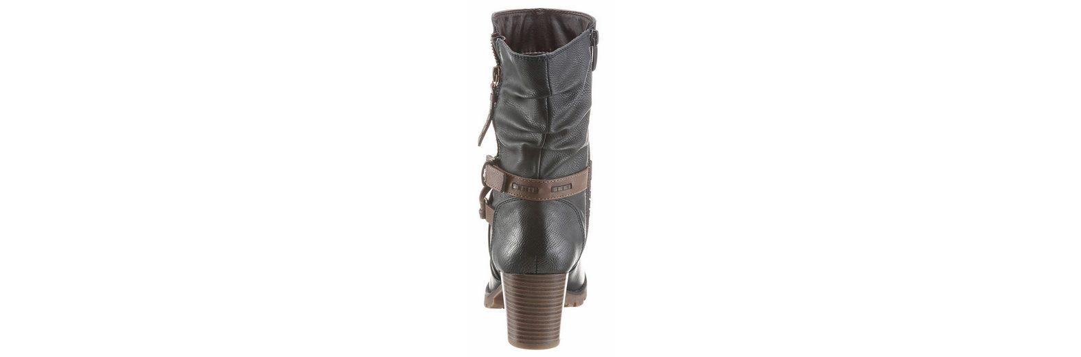 Arizona Stiefelette, mit verzierenden Bändern um den Schaft