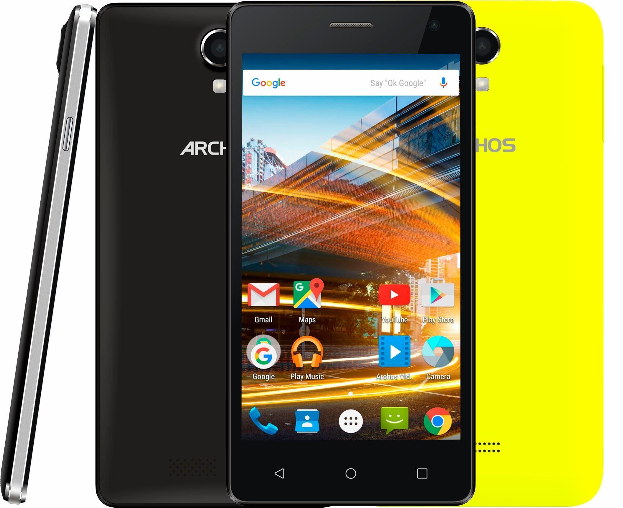 Archos 50d Neon Smartphone, 12,7 cm (5 Zoll) Display, Android 5.1 Lollipop, 8,0 Megapixel