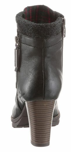Tom Tailor Schnürstiefelette With Ornamental Zipper Outside