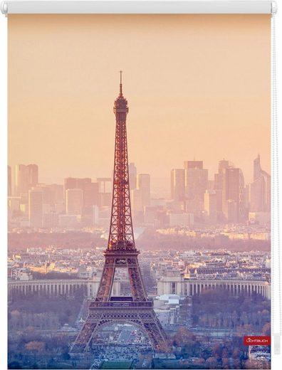 Seitenzugrollo »Klemmfix Motiv Eiffelturm«, LICHTBLICK, Lichtschutz, ohne Bohren, freihängend, bedruckt