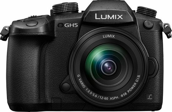Lumix Panasonic »DM-GH5MEG-K« Systemkamera (20 MP, dualer 5-Achsen-Bildstabilisierung, superschnellem DFD-AF, großem OLED-Sucher mit 3,7 MP)