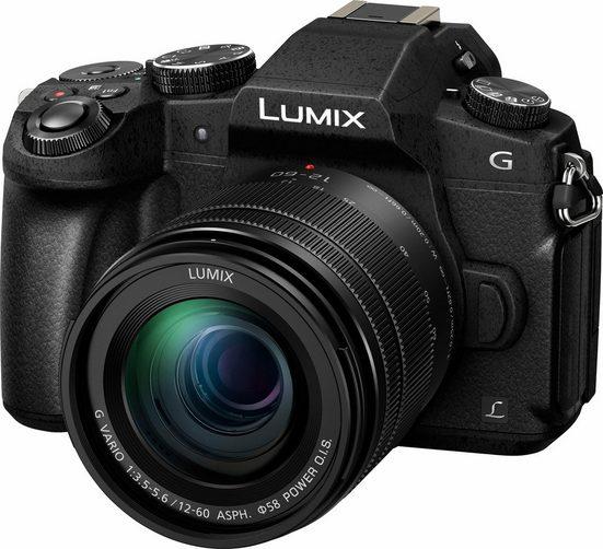 Lumix Panasonic »DMC-G81MEG-K« Systemkamera (LUMIX G VARIO 12-60mm/F3.5-5.6, 16 MP, Gesichtserkennung, Panorama-Modus)