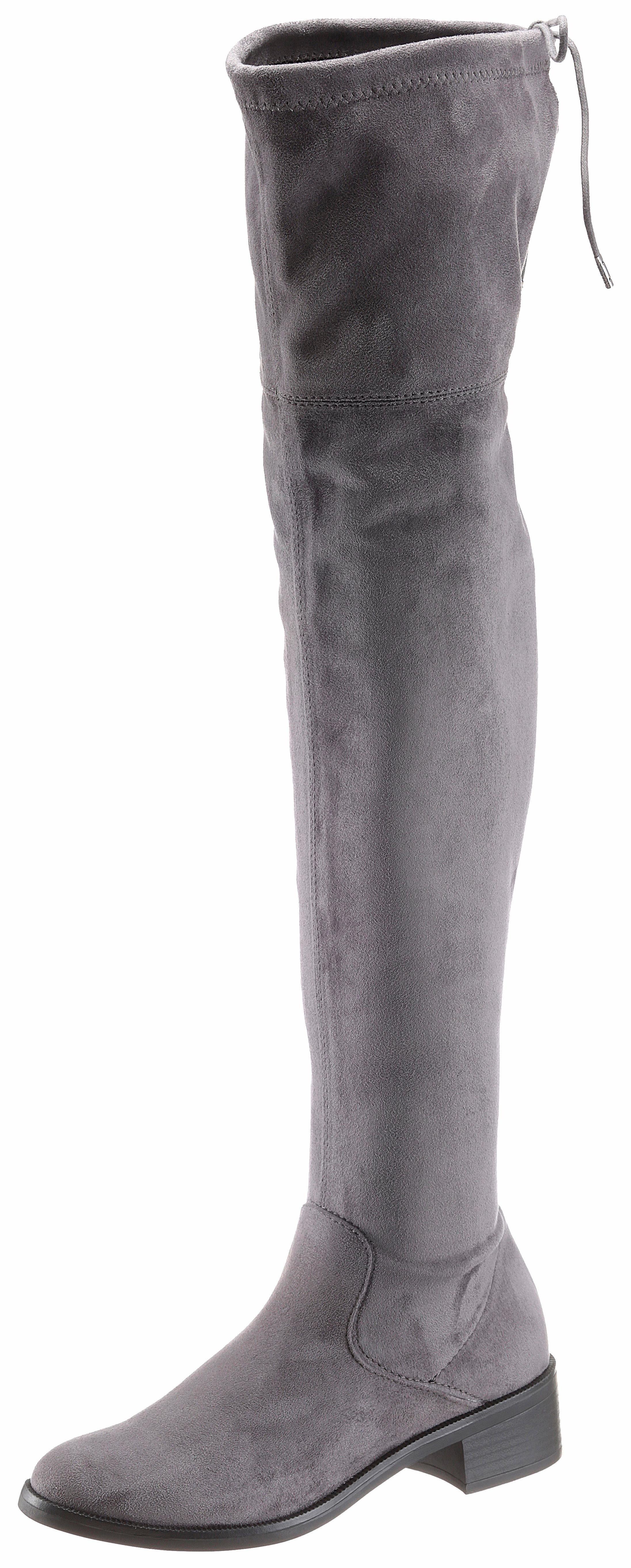 sOliver RED LABEL Overkneestiefel, in schlichter Optik online kaufen  grau