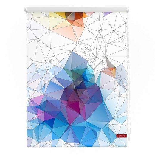 Seitenzugrollo »Klemmfix Motiv Grafik«, LICHTBLICK, Lichtschutz, ohne Bohren, freihängend, bedruckt