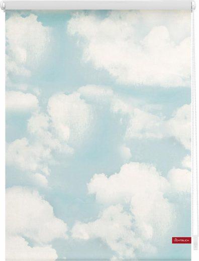 Seitenzugrollo »Klemmfix Motiv Wolken«, LICHTBLICK, Lichtschutz, ohne Bohren, freihängend, bedruckt