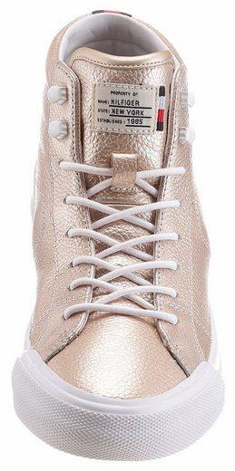Tommy Hilfiger Sneaker, in Metallic-Optik