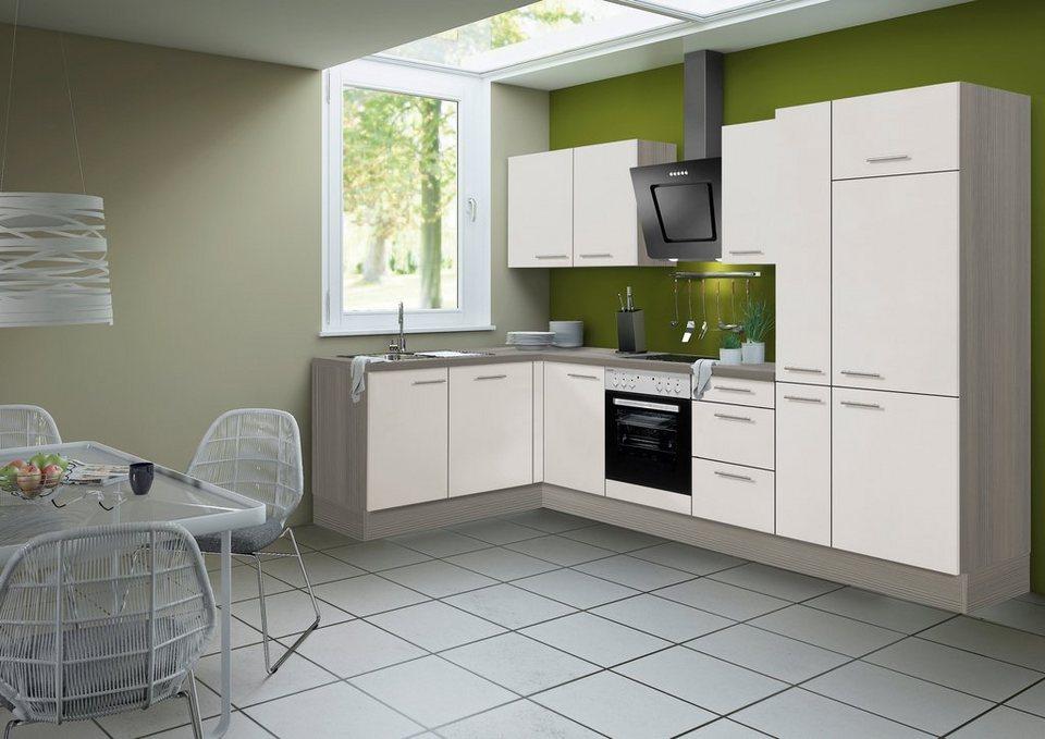 Optifit Küchenzeile ohne E-Geräte »Finn«, Breite 315 x 175 cm in sandfarben