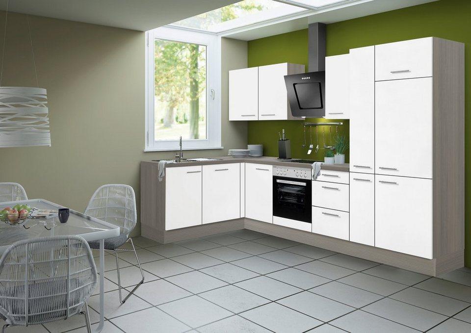 Optifit Küchenzeile ohne E-Geräte »Torger«, Breite 315 x 175 cm in weiß