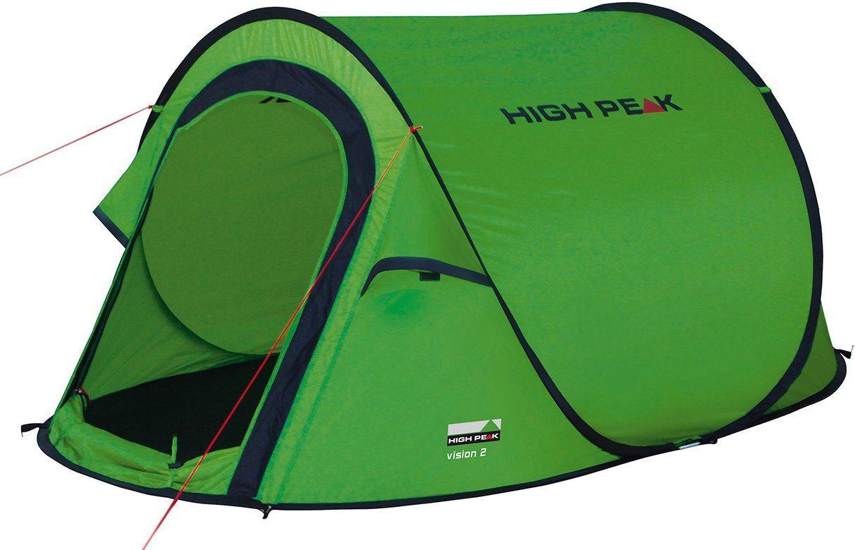 High Peak Wurfzelt »Vision 2«, 2 Personen (Set, mit Transporttasche)