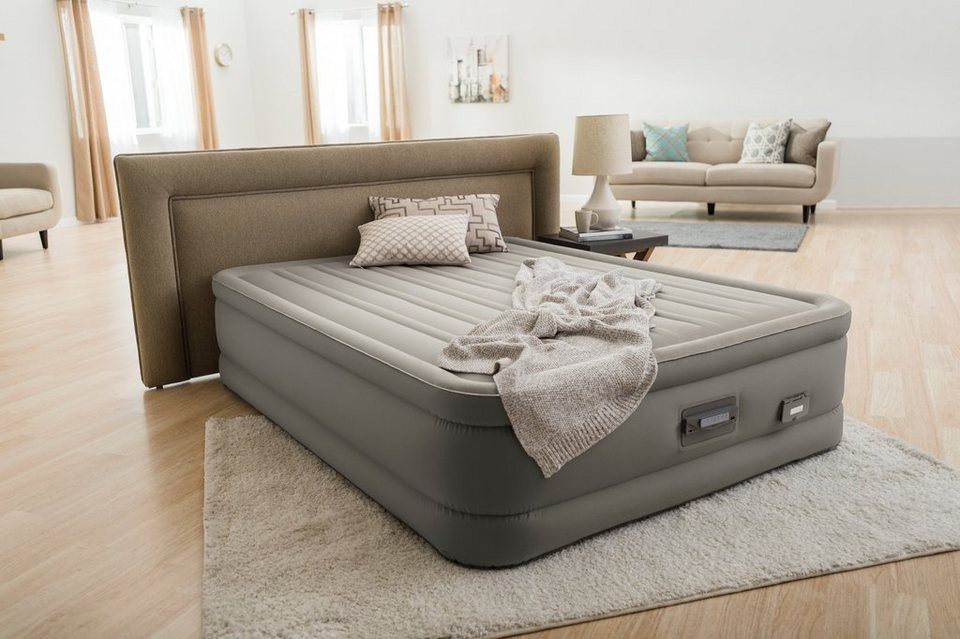 intex luftbett mit integrierter elektropumpe primeaire dream support airbed queen online. Black Bedroom Furniture Sets. Home Design Ideas