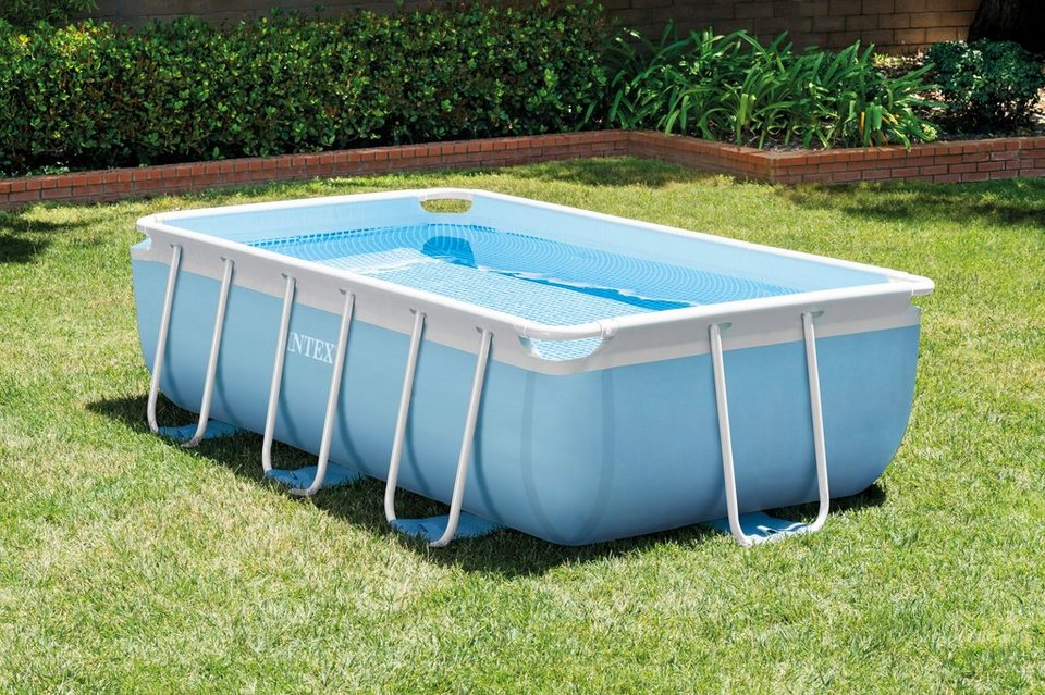 Intex pool set prism frame rectangular pool set 3tlg for Intex pool 150 cm tief