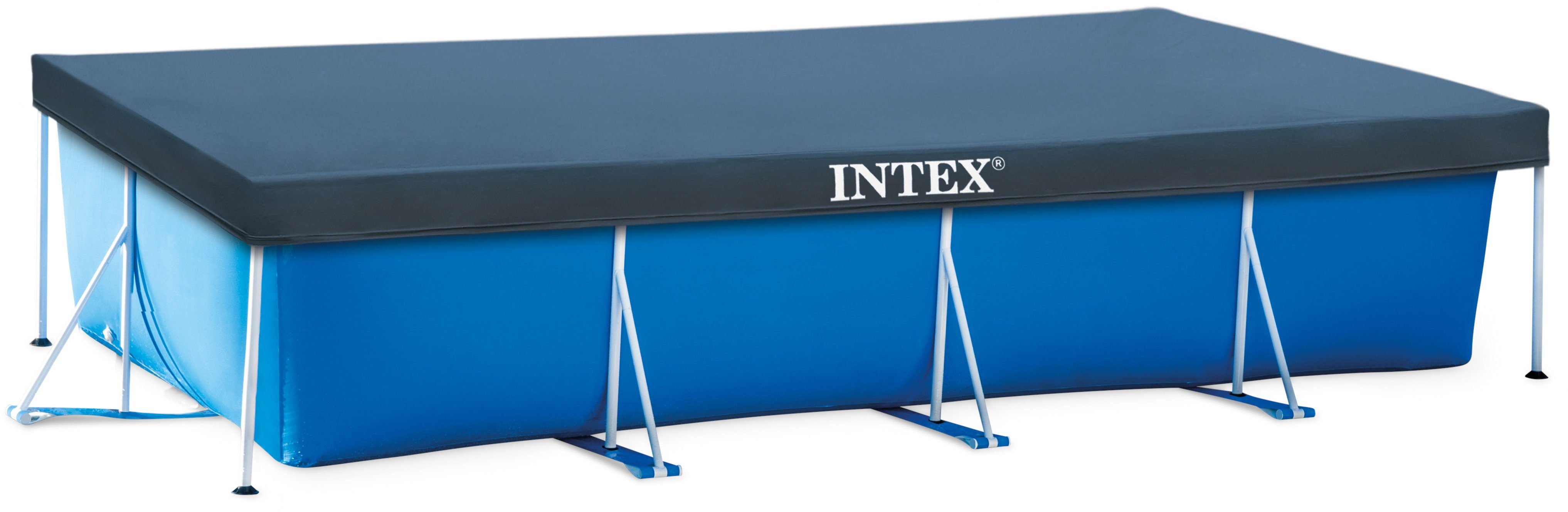 Intex pool abdeckplane pool cover f r rechteckige pools for Intex pool 150 cm tief
