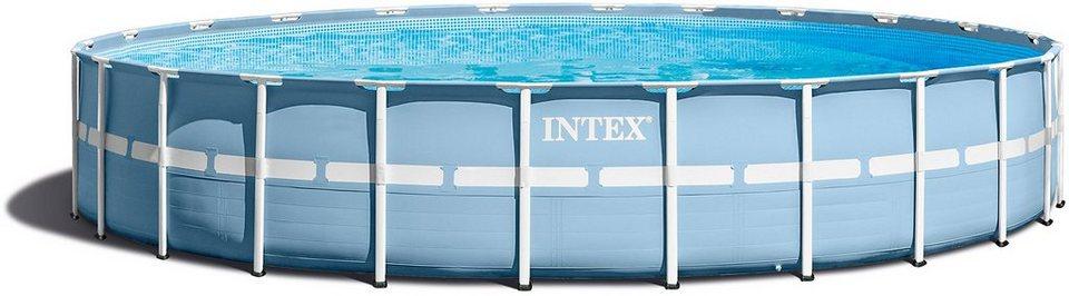 Intex pool komplettset prism frame pool komplettset for Poolfolie montieren