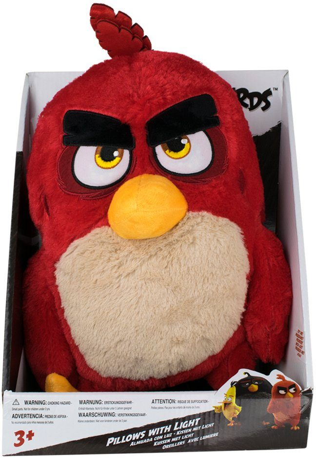 Stofftier mit Licht ca. 35 cm, »Angry Birds™ Red Pillow Light«