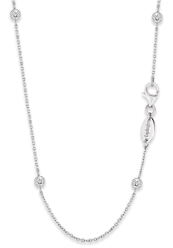 Engelsrufer Silberkette »Little magic, KETTE MOONLIGHT, ERN-80-LILMOON-ZI«, mit Zirkonia | Schmuck > Halsketten > Silberketten | Silber | Engelsrufer