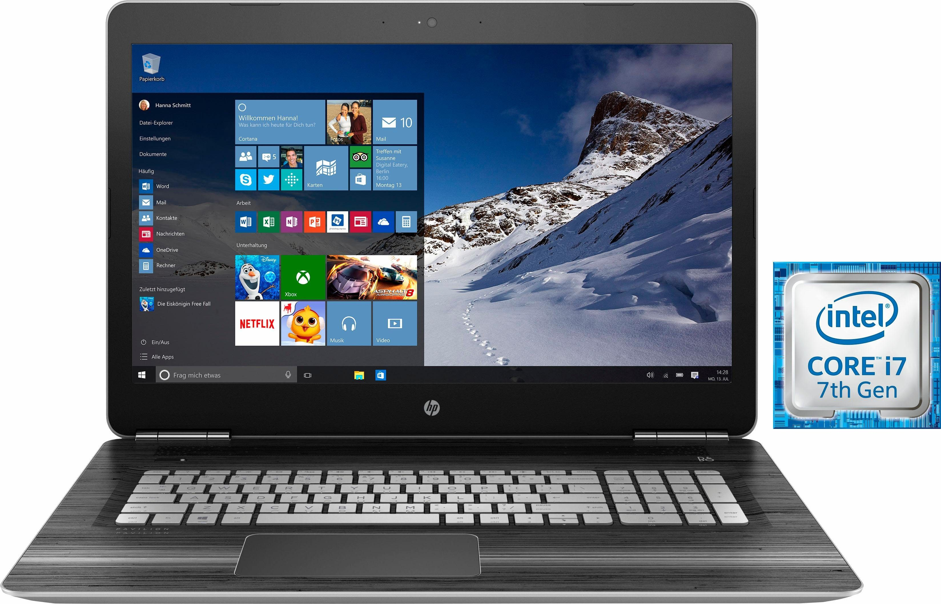 HP 17-ab202ng Notebook, Intel® Core™ i7, 43,9 cm (17,3 Zoll), 256 GB Speicher, 8192 MB DDR4-SDRAM