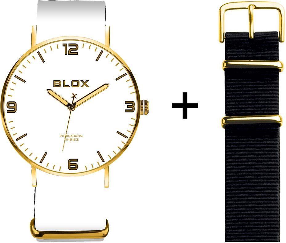 Blox Quarzuhr »BX15309« (Set, 2 tlg) mit einem Wechselband