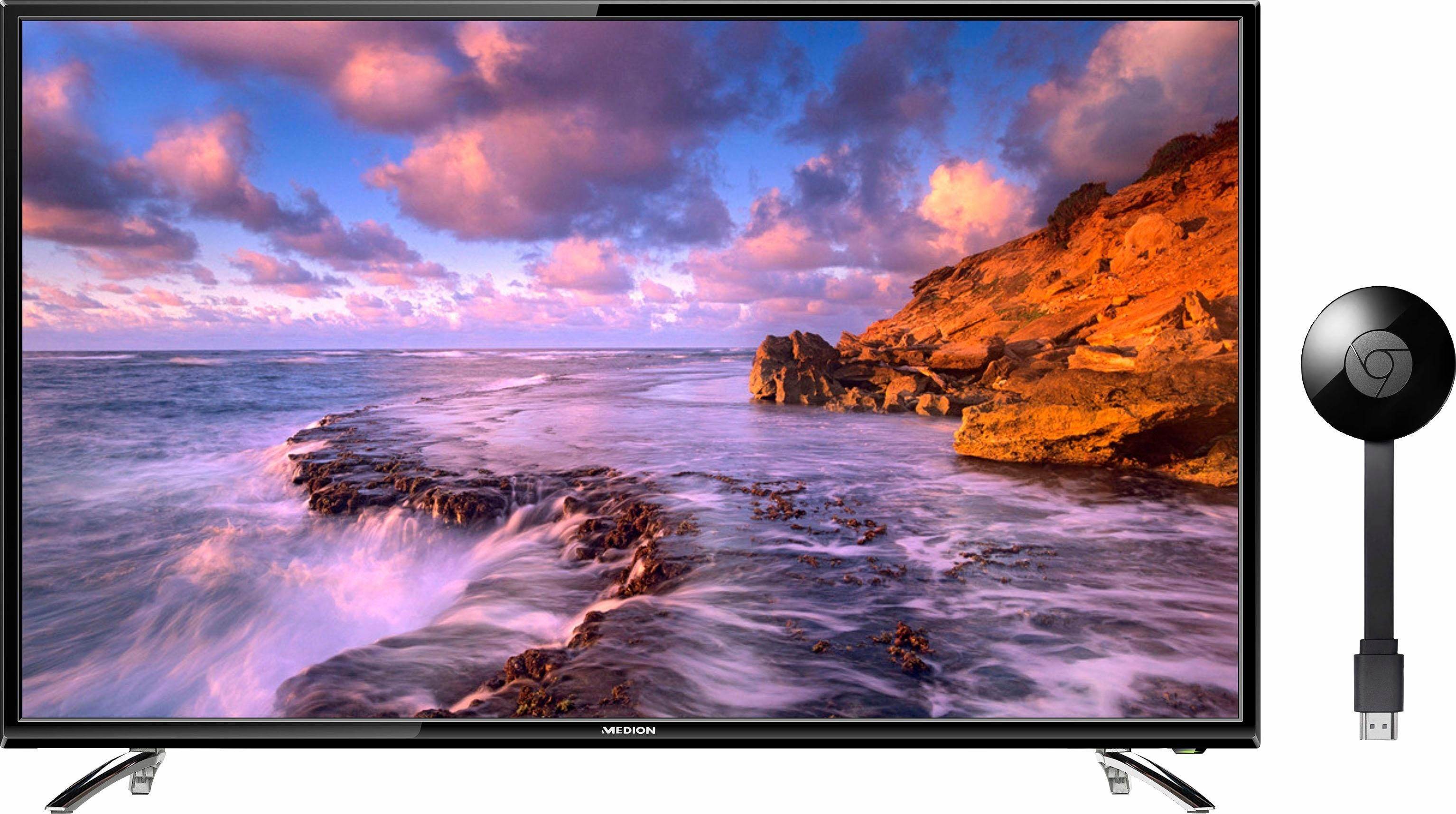 Medion® MD31077 + Google Chromecast, LED Fernseher, 164 cm (65 Zoll), 1080p (Full HD)